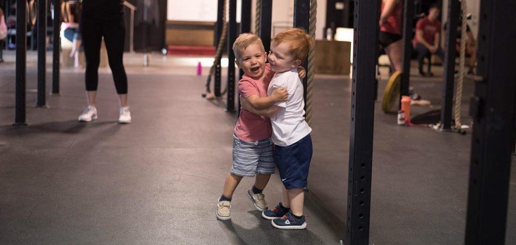 CrossFit Abilene Childcare Kids Hugging
