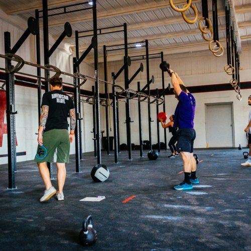 crossfit abilene members working out